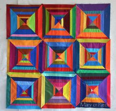 Maryandpatch, Paper piecing, How to, Colorful Quilt -page inspiration
