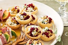 Goat's cheese, beetroot and walnut tartlets