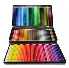 Faber Castell Polychromos Color Pencil Set - 120 Pencils in Metal Tin