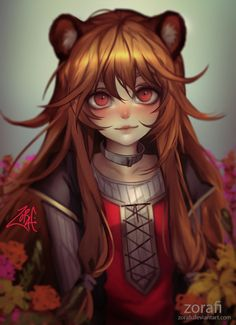 Kawai demi-human girl Raphtalia: The Rising of the Shield Hero anime digital art [Artist: Zorafi] Anime Neko, Kawaii Anime Girl, Anime Art Girl, Character Art, Character Inspiration, Character Design, Manga Drawing, Manga Art, Drawing Art