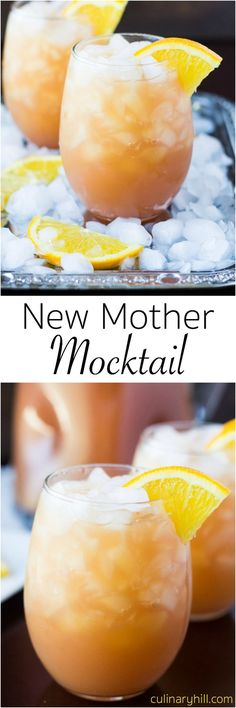 This New Mother Mocktail is a delicious blend of juices perfect for recovering moms, baby showers, or any occasion that calls for a fruity drink! Non Alcoholic Drinks, Cold Drinks, Fun Drinks, Fruity Drinks, Party Drinks, Cocktail Drinks, Smoothie Drinks, Yummy Drinks, Healthy Drinks