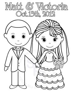 For The Kids to keep busy at reception    Personalized Printable Bride Groom  Wedding by SugarPieStudio