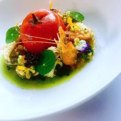 Pickled crab stuffed confit tomato with pickle seafood and seafood caviar #gastroart #chefstalk #chefsofinstagram #barbados #chef #cheflife #seafood #pickle #chef @chefsofinstagram @gastroart @grateplates #grateplates @instagram