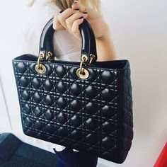 Here's a sneak peek of what's to come this week at Covetique HQ! How fab is this oversized Lady Dior bag? High Fashion, Style Fashion, Lady Dior, Christian Dior, Classic, Instagram Posts, Bags, Derby, Handbags