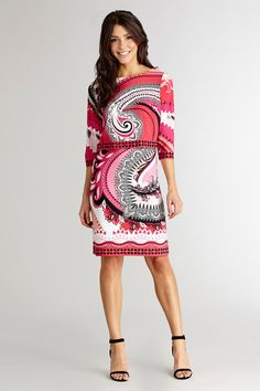 a9d38ca7e19 A bold print makes this pop over modern and playful. Donna Morgan