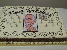 Our Chariman, Herb Tasker's 75th Birthday Cake