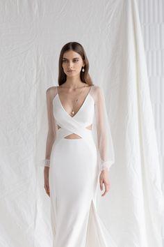 Crepe Wedding Dress, Wedding Dresses, Bride Dresses, Divine Atelier, Off Shoulder Ball Gown, Beautiful Wedding Gowns, White Gowns, Elegant Dresses, Formal Dresses