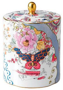 Wedgwood Dinnerware, Butterfly Bloom Tea Caddy traditional-serveware