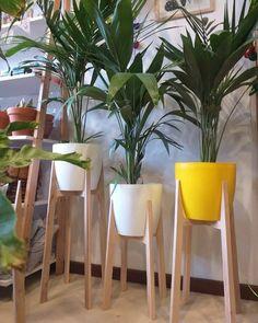 Taburete para macetas de madera AIHOME soporte para macetas de madera para decoraci/ón del hogar y plantas al aire libre
