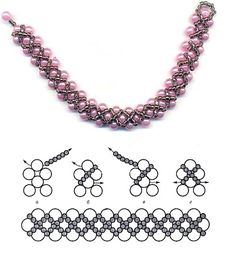 Beaded jewelry pattern. I love this!! @ Home Ideas and Designs