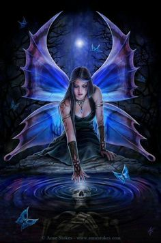 Gorgeous Anne stokes Fairy - she has made this into a fairy figurines as well.... http://www.stormjewelsgifts.com/en/anne-stokes-collection/4685-immortal-flight.html