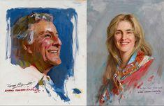 Everett Raymond Kinstler Portraits of Tony & Susan Tony Bennett, Masters, Portraits, Singer, Master's Degree, Head Shots, Singers, Portrait Photography, Portrait Paintings