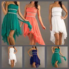 Kort kjole med slæb fra wish