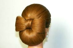 Hair bow with a low chignon