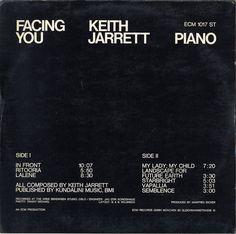 Keith Jarrett-Facing You (Vinyl, Germany, En Vente Type Design, Print Design, Web Design, Graphic Design, Layout Design, Future Earth, Interactive Exhibition, Book Layout, Editorial Layout