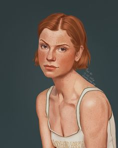 """flor   21   ♀  on Instagram: """"Ginny Weasley💗 . . i'd wanted to do a portrait of Ginny for the longest time, she is one of my favorites💗last time i drew her with short…"""""""