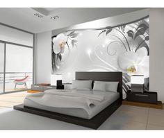 Fototapete Silber abstrakt 280 cm x 400 cm Brayden Studio Luxury Bedroom Design, Bedroom Furniture Design, Master Bedroom Design, Bed Furniture, Home Interior Design, House Wall Design, Living Room Decor, Bedroom Decor, Wall Decor
