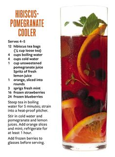 ... pomegranate cooler more hibiscus pomegranate drink recipes pomegranate