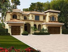 Stunning Master Suite - 32232AA | 2nd Floor Master Suite, Butler Walk-in Pantry, CAD Available, European, Florida, Luxury, MBR Sitting Area, Mediterranean, PDF, Photo Gallery, Spanish | Architectural Designs