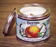 Soy Wax Candles, Candle Jars, Vintage Candles, Vintage Style, Tin, Designers, Peach, Organic, Handmade