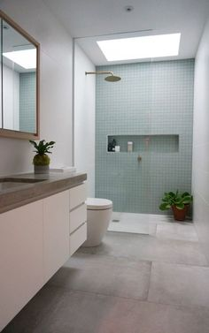 You need a great deal of minimalist bathroom ideas. The minimalist bathroom design concept has several advantages. See the best collection of bathroom photos. Ensuite Bathrooms, Laundry In Bathroom, Bathroom Renovations, Skylight Bathroom, Bathroom Mirrors, Bathroom Shelves, Bathroom Fixtures, Vanity Shelves, Narrow Bathroom