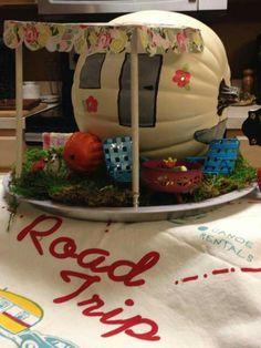 #rv Halloween Camping, Holidays Halloween, Easy Halloween, Halloween Pumpkins, Halloween Crafts, Pumpkin Books, Pumpkin Art, Pumpkin Ideas, Pumpkin Decorating Contest