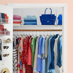 DIY closet organizing systems are expensive. Save money, time, and stress with these quick and easy DIY closet organizer ideas. Closet Storage Bins, Best Closet Organization, Storage Hacks, Storage Boxes, Storage Solutions, Household Organization, Bedroom Organization, Organization Ideas, Smart Closet
