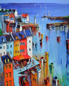 French Art Network | Eric Le Pape---- Sauzon,  100F (63 13/16 x 51 1/4 inches) oil on linen painting