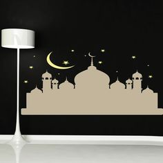walliv dubai sticker wall art decal available in various sizes, colors and finishes making it ideal to apply to any wall or smooth surface. It's removable, leaving no damage to paintwork, and it's non-toxic, and once applied looks like its painted on! Mosque Silhouette, Islamic Wall Decor, Wall Sticker, Sticker Ideas, Bedroom Size, Creature Comforts, Islamic Calligraphy, Kids Playing, Playroom