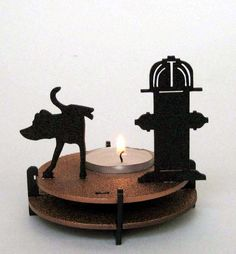 Dog Tea Light Candle Holder - Plasticsmith in Canada on Etsy. #doghumor #dogdecor #dogs #giftfordoglovers #mademelaugh https://www.etsy.com/listing/114139309/dog-tea-light-candle-holder