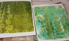 Nordljus: Playing with my new Gelli Plate