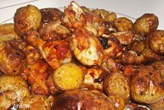O craita in bucatarie: Aripioare de pui in sos dulce picant Cooking Time, Chicken Wings, Sprouts, Chicken Recipes, Vegetables, Pork, Salads, Vegetable Recipes, Veggies