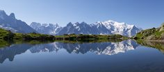Lake, Mountain range in Rhône-Alpes France