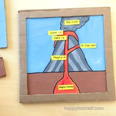 DIY Volcano Anatomy Puzzle for Kids to Learn Parts of a Volcano Learn about Parts of a Volcano with this DIY cardboard puzzle. Kid Science, Science Projects For Kids, Science Activities For Kids, Montessori Activities, Infant Activities, Volcano Projects, Art Project For Kids, Art Projects, Earth And Space Science