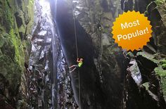 An amazing Hiking, Rappelling, Waterfall Climbing & Zipline Tour in Puerto Rico located 45 minutes from San Juan in a rainforest near the city of Caguas.