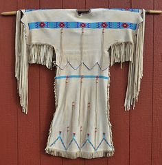 Northern Cheyenne Indian, Native American, Beaded Buckskin Dress Circa (1940)