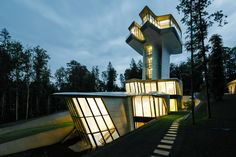 Zaha Hadid's Only Private Residential Project Rises Above A Russian Forest