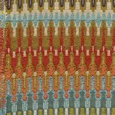 Eye Candy Peppy Multi Colored Chenille Tribal Ikat Fabric