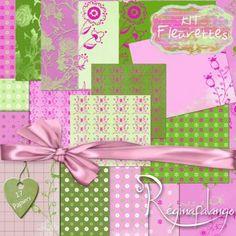 FREEBIE : kit-fleurette-reginafalango-papiers - Free-digiscrap.com : le digiscrap gratuit ! The free digiscrap resource !