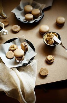 If you're feeling ambitious you can make these yummy #coffee #macarons (or you can do what we do & buy 'em from Milk & Honey KC!)