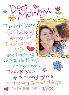 Thank You, Mommy! Mother's Day Card