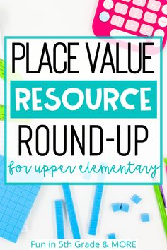 Are you an upper elementary teacher looking for place value resources? Here is a round up of great resources to use to introduce, teach and review place value. Find some great place value charts, games and more to simply your math instruction! Includes ideas for paper resources and digital resources to be used in the classroom and for distance learning! All the place value resources you'll need to teach your students all about place value!