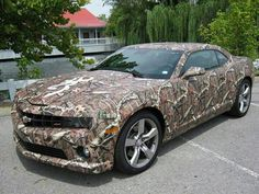 Dream car.  Camo and a mustang <3