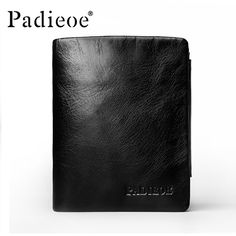 Special offer Padieoe 2017 Crazy Horse Design Genuine Leather Short Wallet men black luxury three fold men wallet fashion Durable men's wallet just only $20.63 with free shipping worldwide  #walletsformen Plese click on picture to see our special price for you