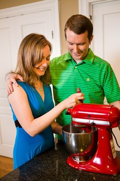 Engagement shoot using kitchen aid mixer by Fucci's Photos