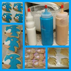 Sonic The Hedgehog Cookie Tutorial made by Margie