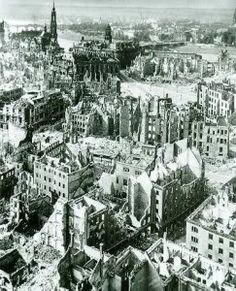 On the night of February 13, 1945 RAF bombers dropped 2,500 bombs on historic Dresden. The city had little military or strategic value. The next day, the USAF began bombing Dresden's railways, bridges and transportation facilities, killing thousands more. On February 15, another 200 U.S. bombers continued their assault on the city's infrastructure. Due to an unknown number of refugees in Dresden at the time of the attacks, Death toll estimates range from 35,000-135,000 civilians.