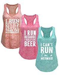 New Tough Cookie Clothing Tough Cookie's Women's Running Series Workout Tank Top 3 Pack Deal
