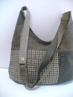Wool tweed handbag in olive green | Flickr - Photo Sharing!