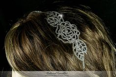 Flower Crystal Headband Rose Floral Rhinestone by BelovedSparkles
